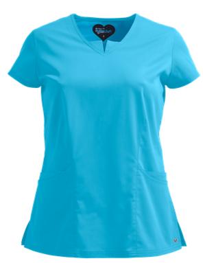 7ddf0a44e62 UA Butter-Soft STRETCH Scrubs Contemporary Fit V-Neck w/ Triangle Insert Top  Style # BSS743 #uniformadvantage #uascrubs #adayinscrubs #scrubs #buttersoft  # ...