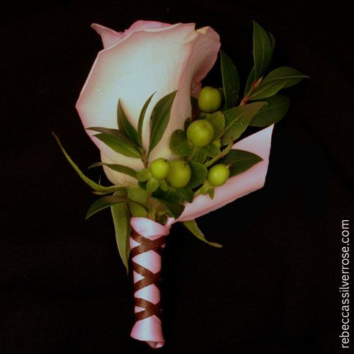 Rose And Hypericum Boutonniere Boutonniere Ivory Roses Wedding Flower Decorations