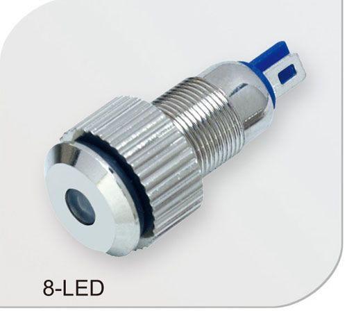 8mm Orange Led: 8-LED 8mm 15mA IP65 Metal Pilot Light Mounting Hole Size