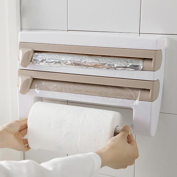 4 In 1 Kitchen Roll Holder Dispenser Goamiroo Store Paper Towel Holder Kitchen Bottle Storage Rack Kitchen Roll
