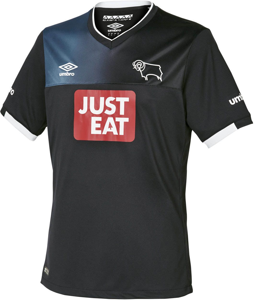 Derby County FC (England) - 2016 2017 Umbro Away Shirt  87406bc1ce740