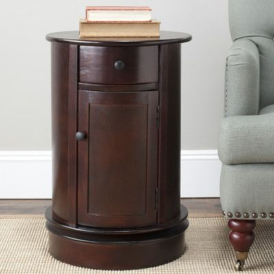 Unique Oval Bedside Table