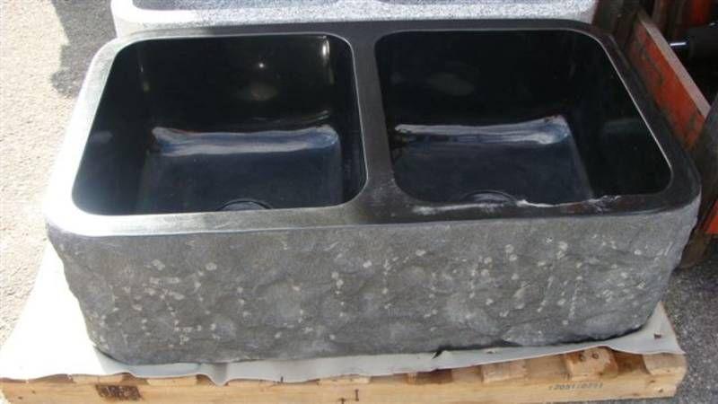 Black stone farmhouse sink double bowl farmhouse sink