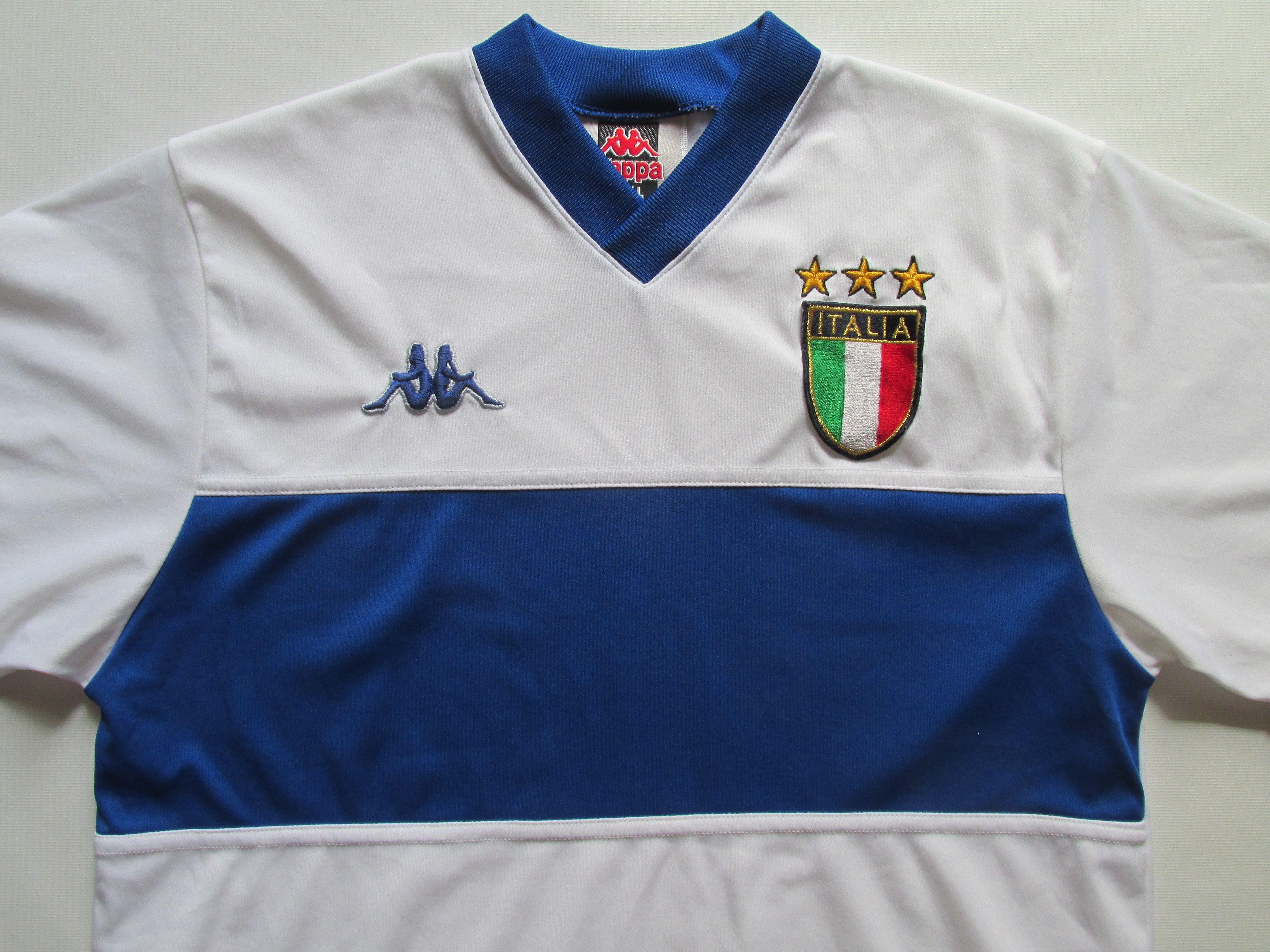 Italy 1998 1999 2000 Away Football Shirt By Kappa Italia Calcio Azzurri Vintage 90s Soccer Jersey Italy Football Shirts National Football Teams Football Fans