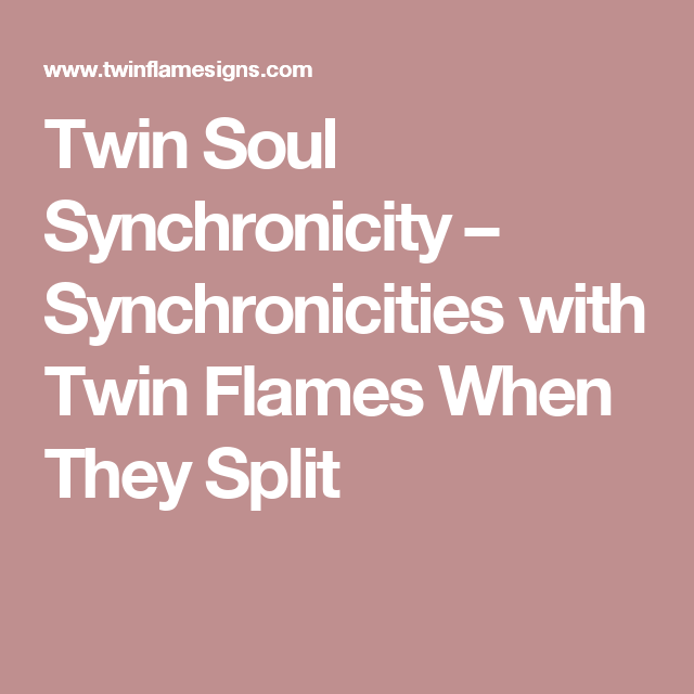 Twin Soul Synchronicity – Synchronicities with Twin Flame