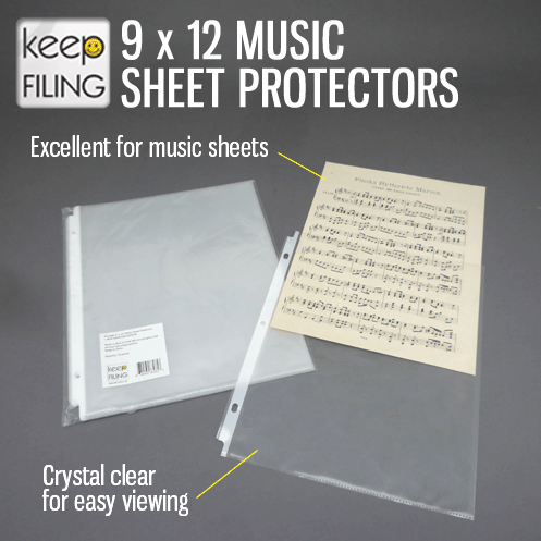 9x12 Sheet Protectors Protective Sheet Music Covers Sheet Protectors Sheet Music Music Covers