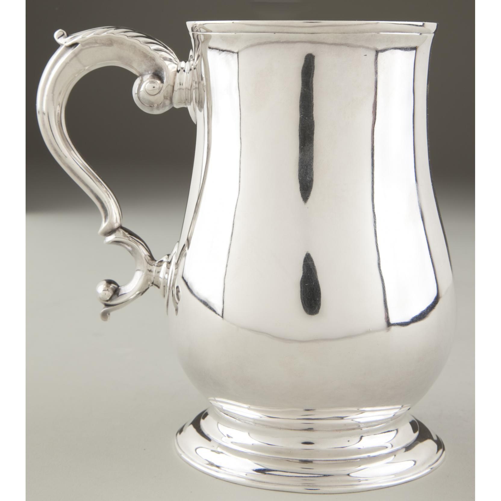1755 George II Silver tankard Leland Little