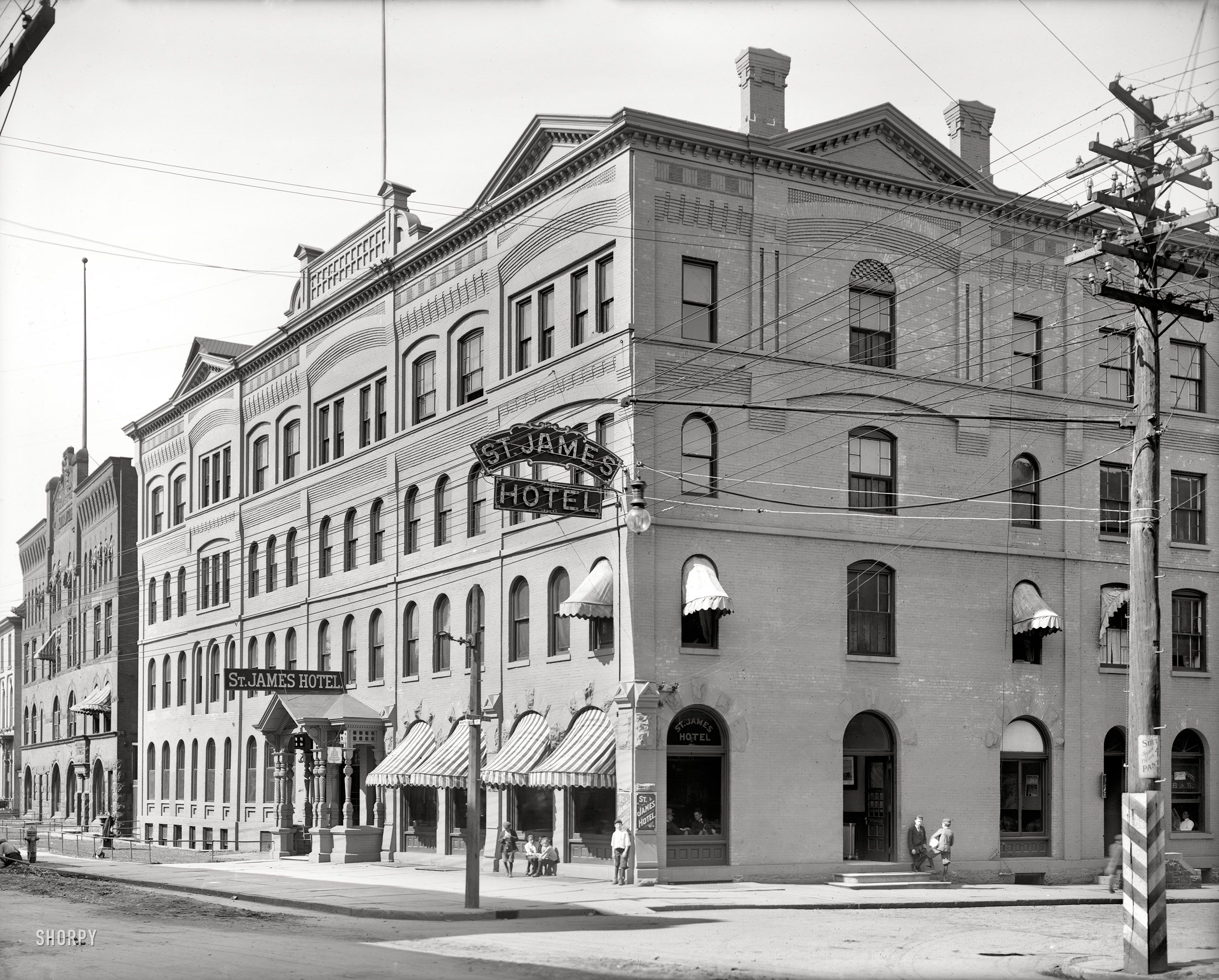 C 1910 St James Hotel Utica New York With Images James