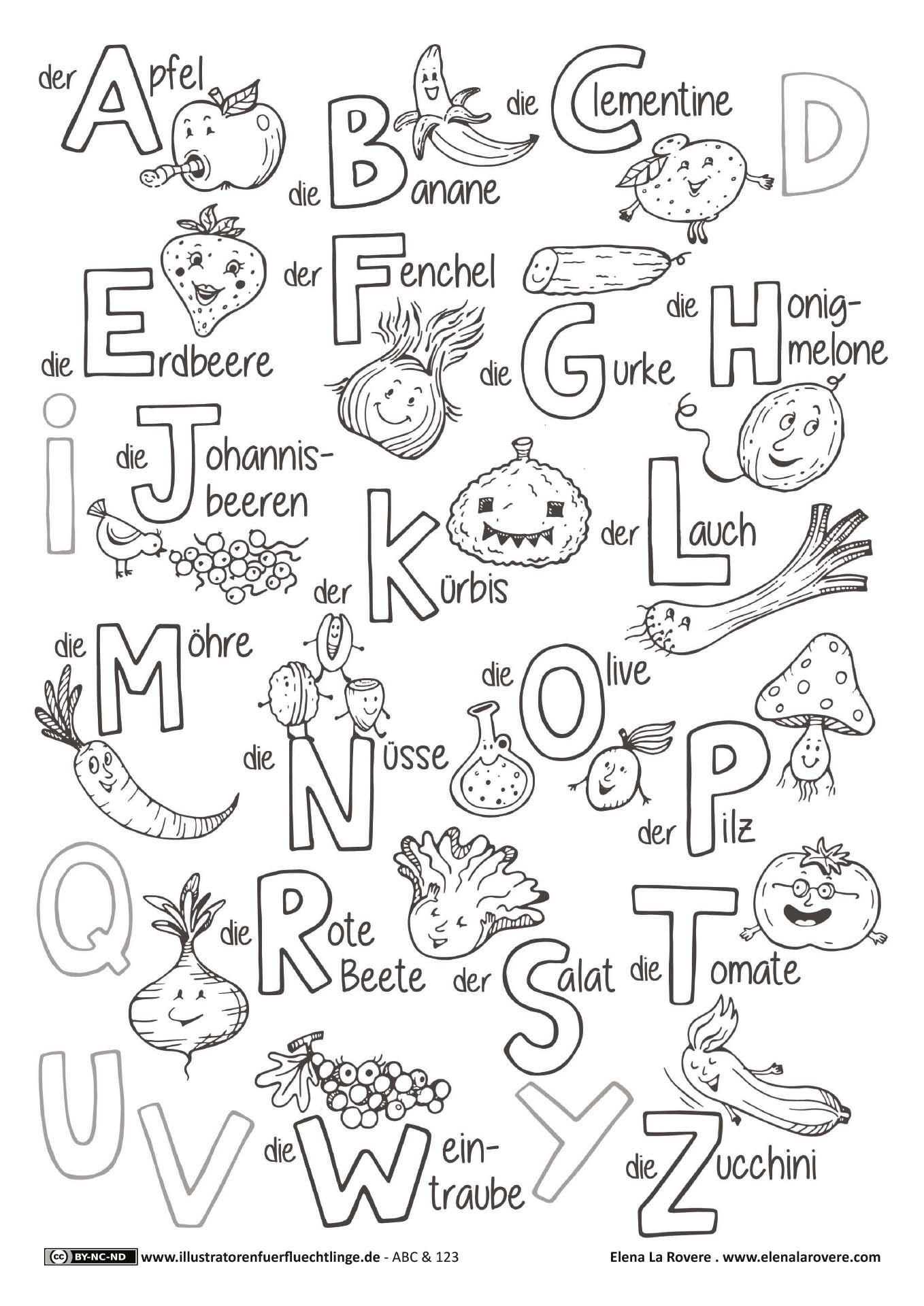 ABC und 123 - Obst und Gemüse ABC - La Rovere | english Lessons ...