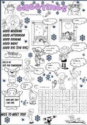 English worksheets greetings manners and responsibilities greetings worksheet by angela moreyra m4hsunfo Gallery
