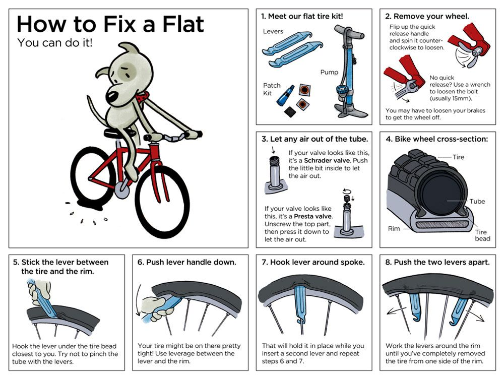 If You Are Looking For A Guide On How To Fix A Flat Bike Tire Then You Have Come To The Right Place Fixing A Flat Bike Tire Is N Bicycle