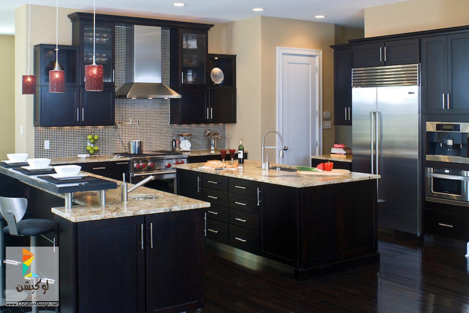 مطابخ صغيرة خشمونيوم Cheap Kitchen Cabinets Dark Kitchen Cabinets Kitchen Design Ideas Dark Cabinets
