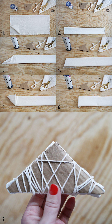 Shibori Tie Dye Cloth Napkin Tutorial