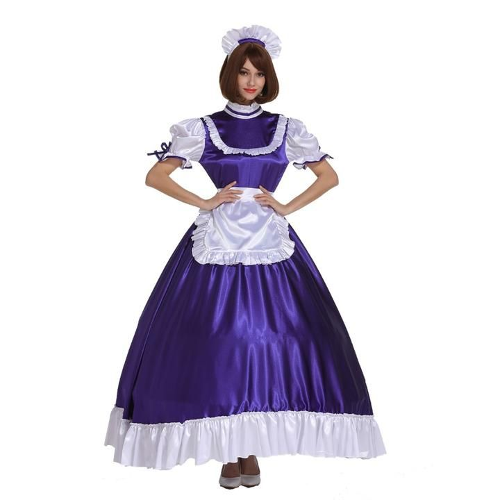 b52f3c4e0d26e Sissy Girl Maid Frilly Purple Lockable Long Dress | Dresses in 2019 ...
