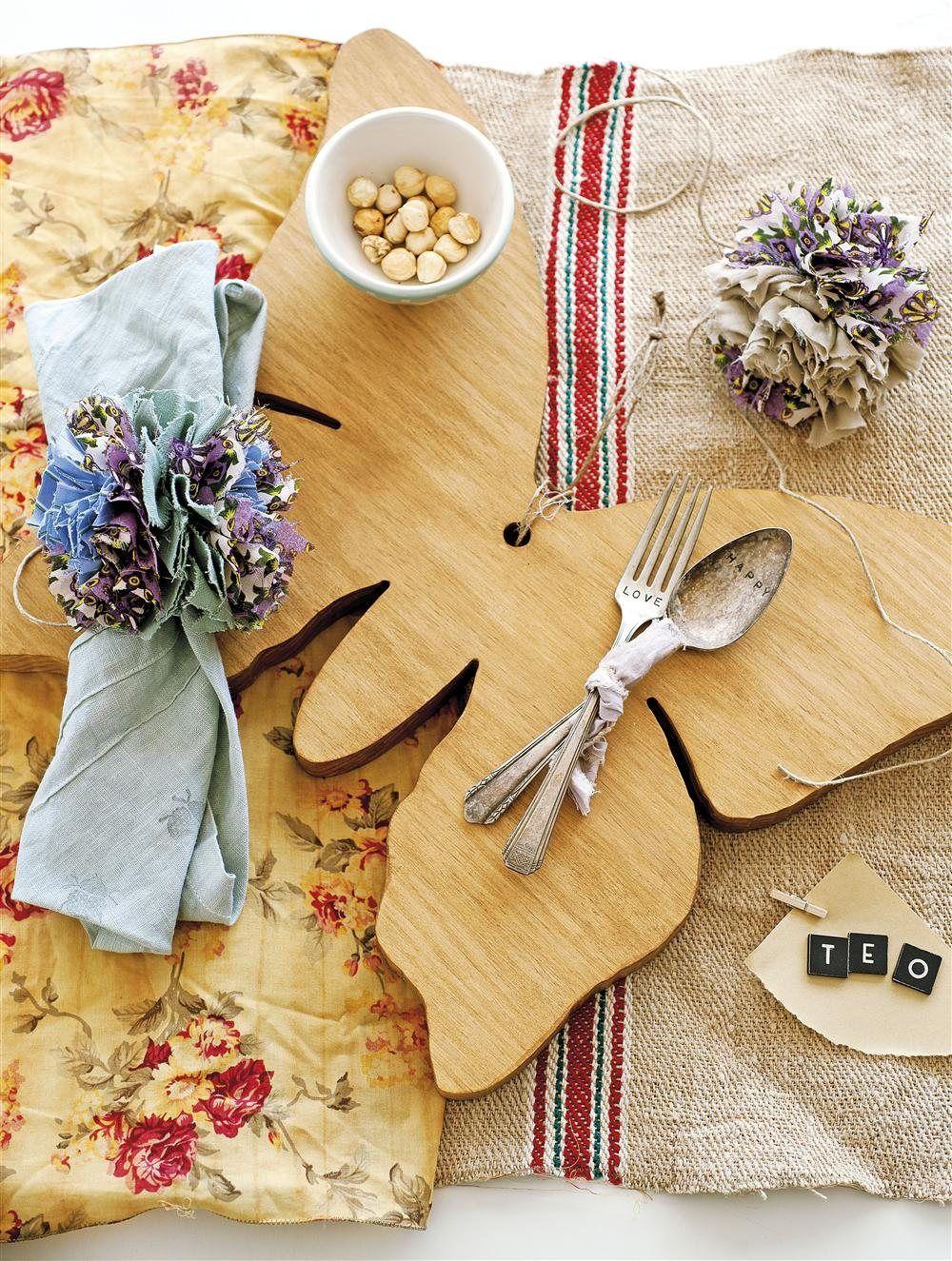 Detalles para la mesa Sobre la mesa de Cottage Little House, telas