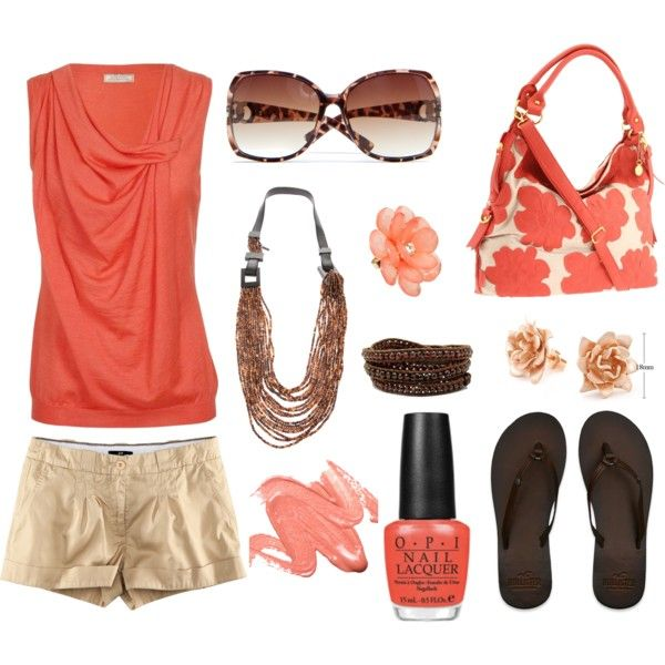 Summer Peach, created by smgilreath.polyvore.com