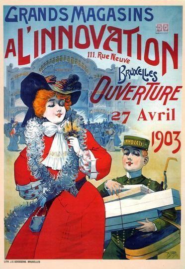 affiche innovation ouverture opening 1903 archives de la ville de bruxelles affiches. Black Bedroom Furniture Sets. Home Design Ideas