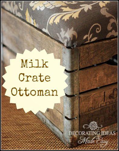 M s de 25 ideas incre bles sobre otomana de tela en pinterest otomana tapizada ideas de - Escabeles tapizados ...