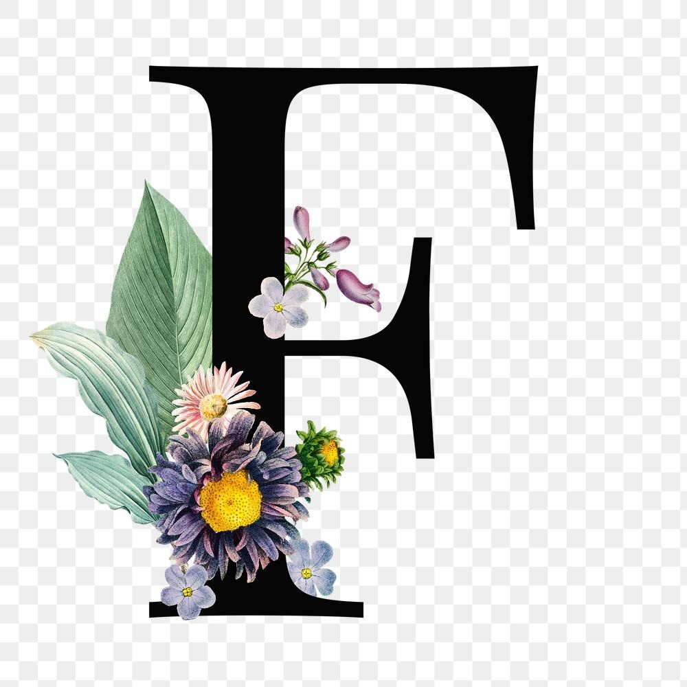 F Png Floral Alphabet Font Free Image By Rawpixel Com Sasi Fonts Alphabet Floral Typography Free Illustrations
