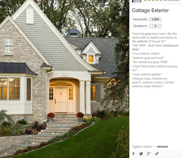 Exterior Color Sw 7045 Intellectual Gray In 2019 Cottage