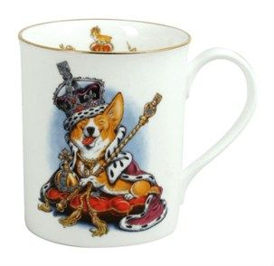 Coronation Corgi Mug - Official Queen's Coronation and Diamond Jubilee Gifts - Buy Online - Royal Yacht Britannia