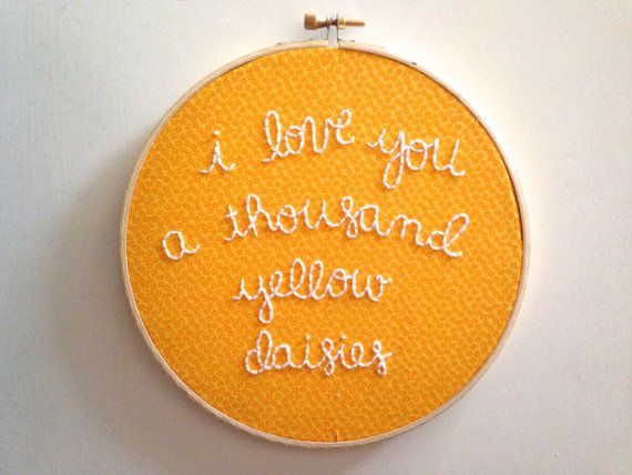 Gilmore Girls: I Love You A Thousand Yellow Daisies Hand Embroidery in 7 Inch Hoop on Etsy, $28.31 CAD