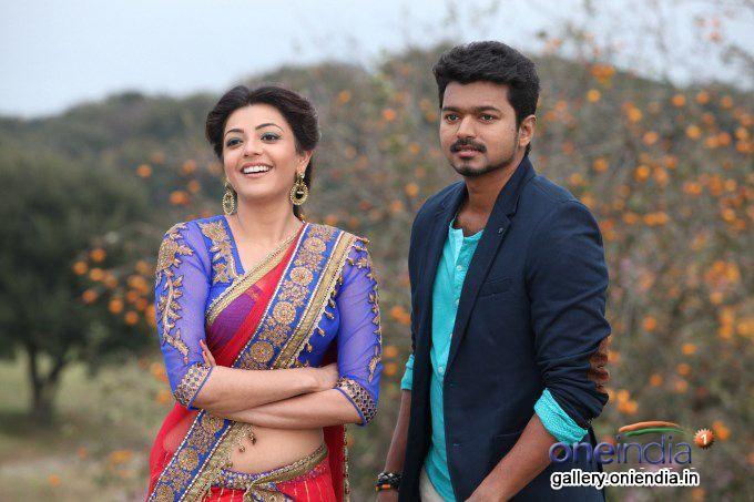 Vijay And Kajal Jilla Stills Movie Pic Actor Photo Romantic Couple Images