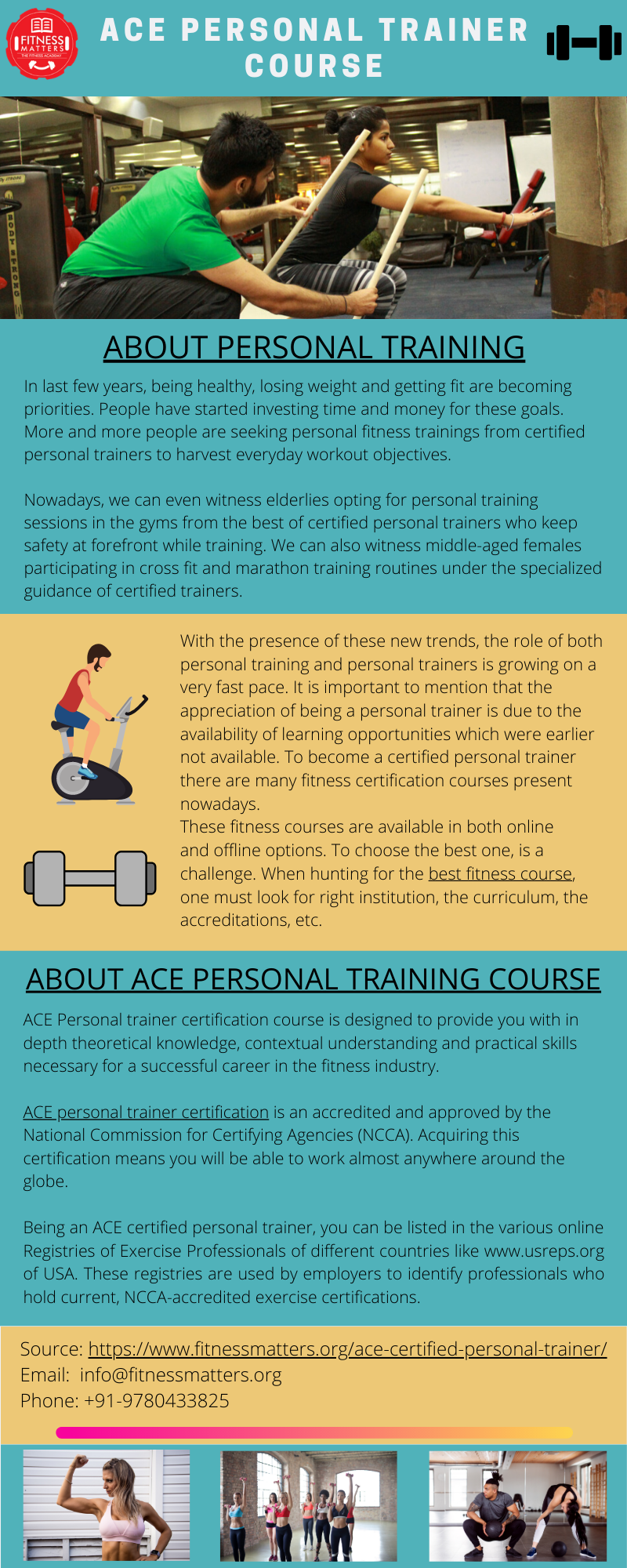 personal trainer ace certified fitness instructor certification