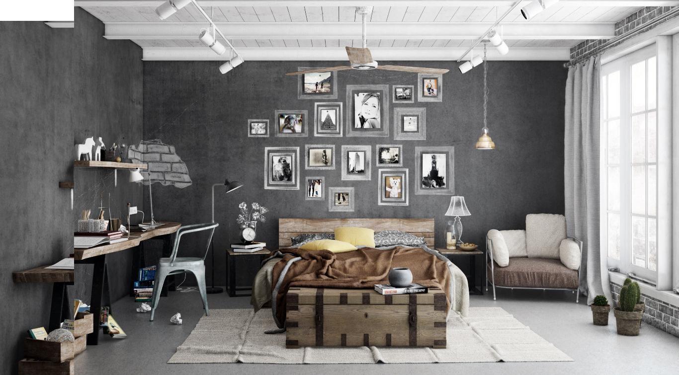 Dormitorio estilo eclectico color marron, marron, blanco, gris, gris diseñado por ALMAZEN lab - Interiorista
