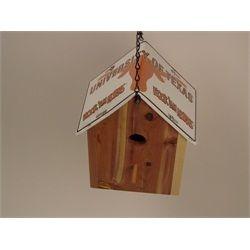 University Texas Longhorns Cedar Birdhouse License Plate Roof Handmade BHLP-788 $49.99