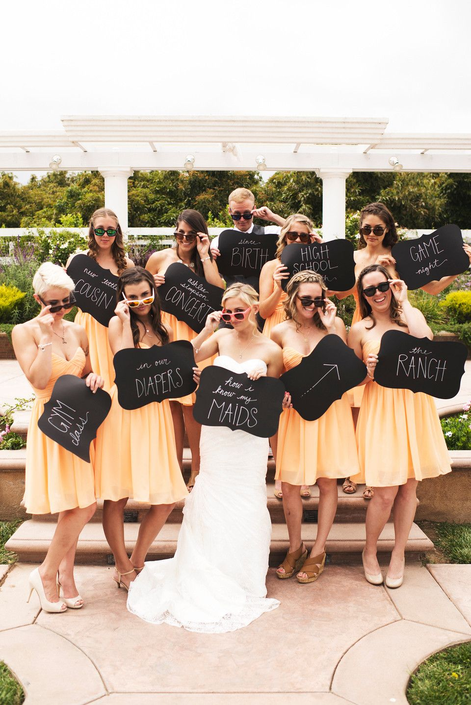 How Did You Meet The Bride Bridal Party Pose