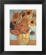 Sunflowers on Blue, 1888  Frame