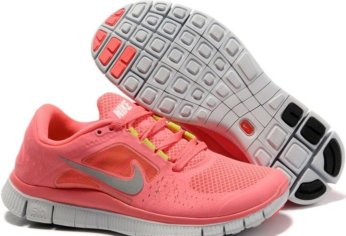 46498c40d8c39 Womens Hot Punch Reflective Silver Sol Volt Nike Free Run 3 Running Shoes