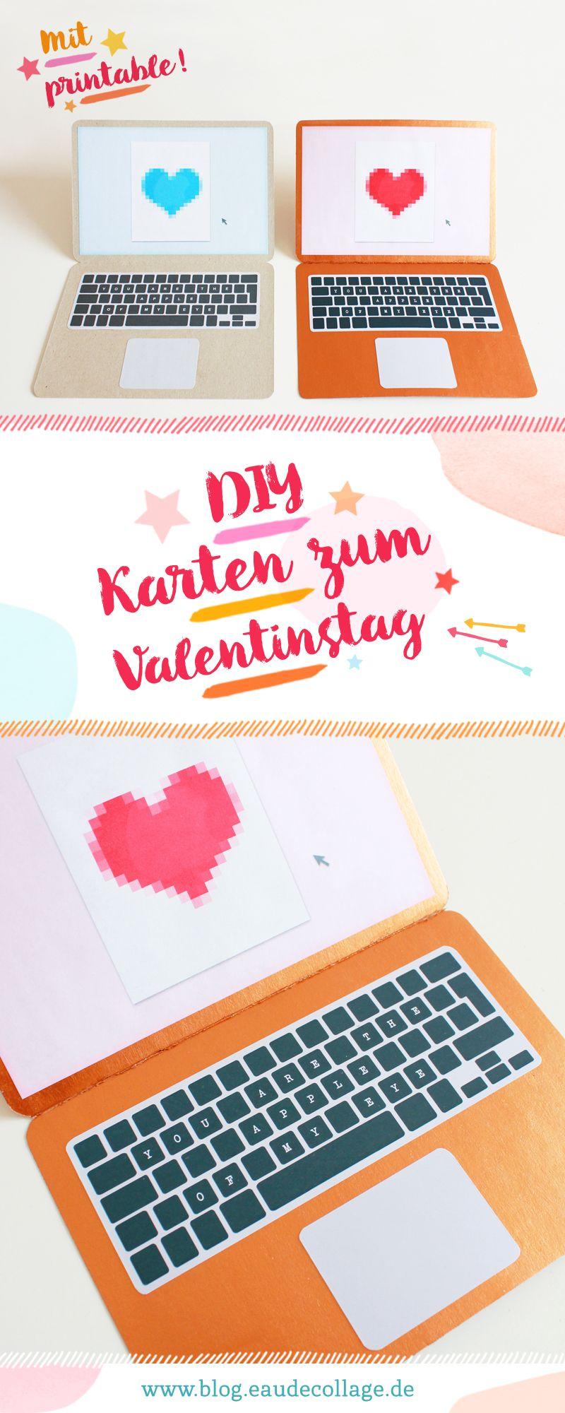 DIY Apple-Karte zum Valentinstag *FREE PRINTABLE