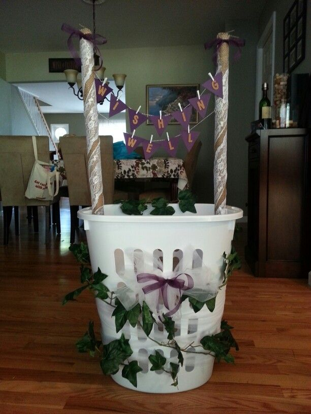 pin worthy wishing well wine themed bridal shower