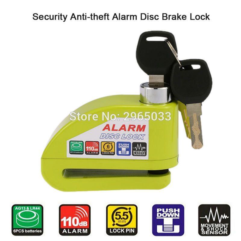 US Stock Alarm Disc Brake Lock Anti-theft for Motorcycle Bicycle Wheel Security