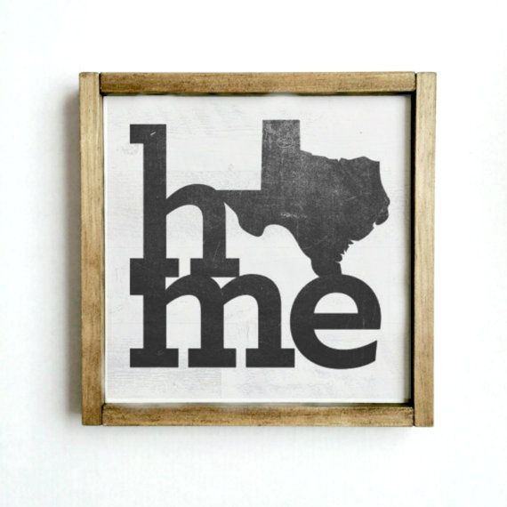 Texas Home Reclaimed wood sign Custom State sign by FrannyChicago ...