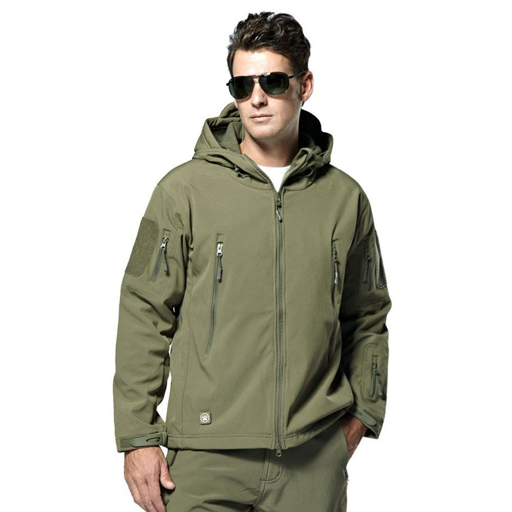 b5385ff50014d Webetop Softshell Jacket Men's Waterproof Hooded Tactical Military Combat Outdoor  Coat 5 Colours M-3XL
