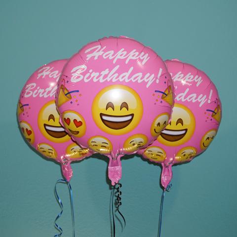 Emoji Birthday Smile Tongue Pink Balloons Everything