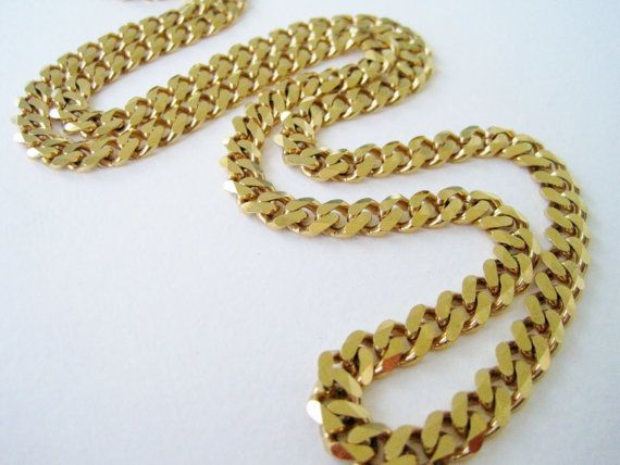 Is Monet Jewelry Real >> Vintage 80s Hip Hop Hipster Signed Monet Goldtone Curb Chain