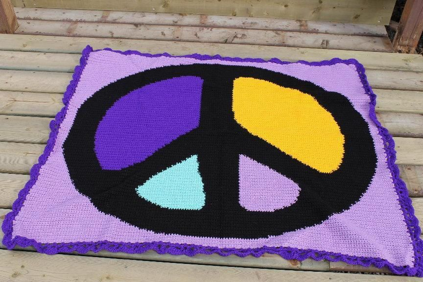 Bold Colors Peace Sign Afghan Graph More Bold Colors Afghans And