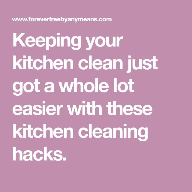 Sparkling Clean Kitchen: 19 Genius Kitchen Cleaning Hacks That Will Make Your