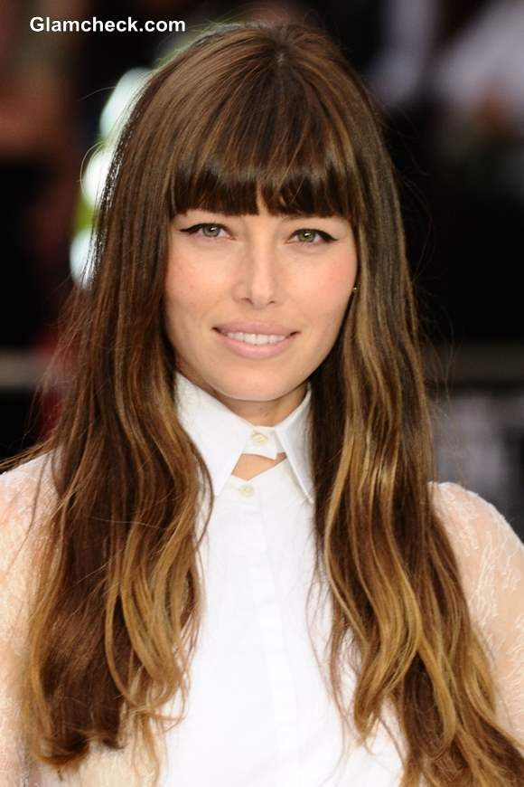 celebrity hair color jessica biel turns ombre