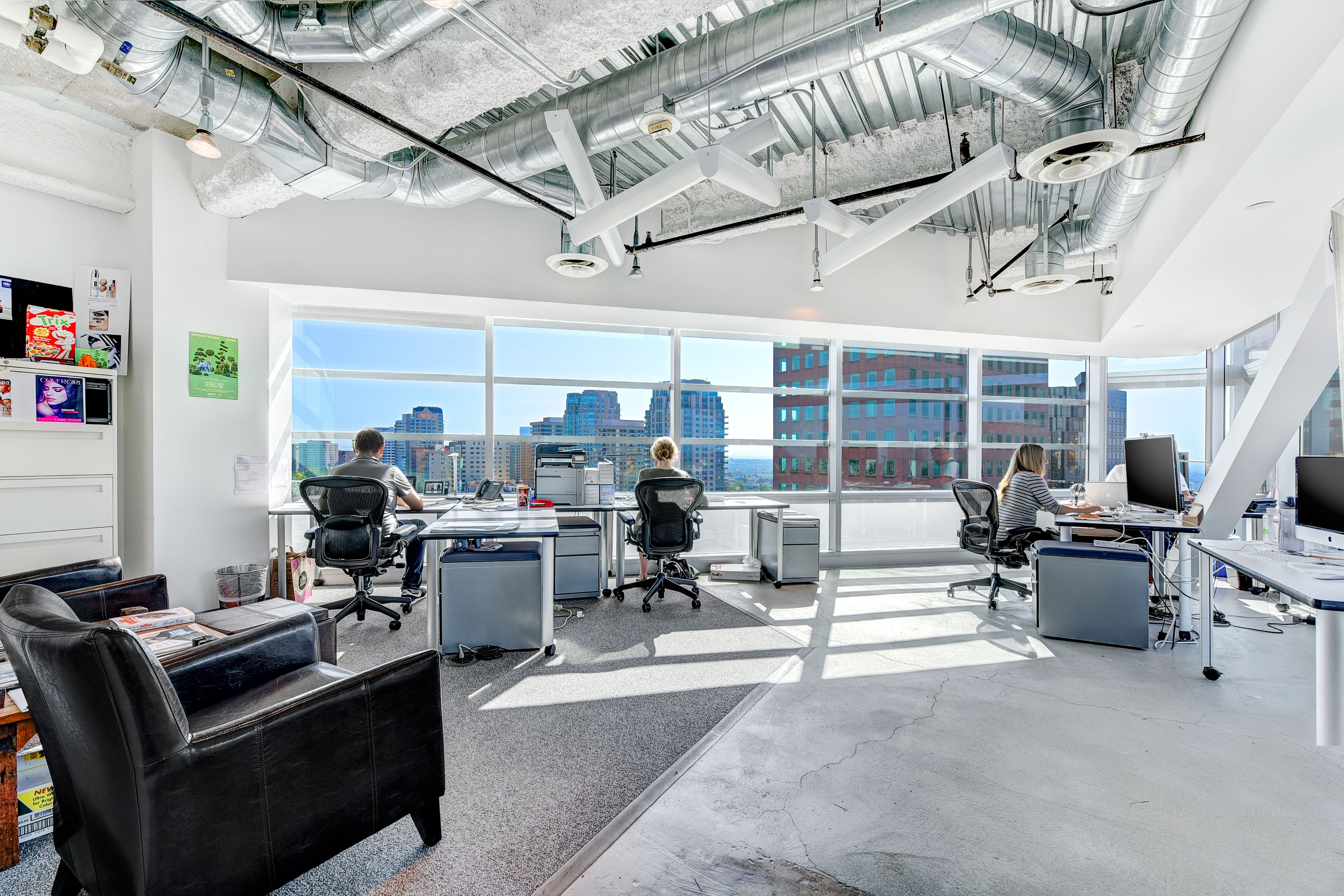Large Open Space Office To Allow For Collaboration And The View