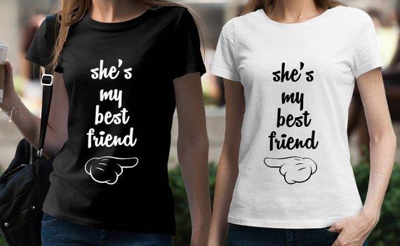 a983e9c3195 BEST FRIEND Shirts Set of 2 BFF tshirts set Tumblr Shirts Best Friends T  shirt Set Matching Set Best
