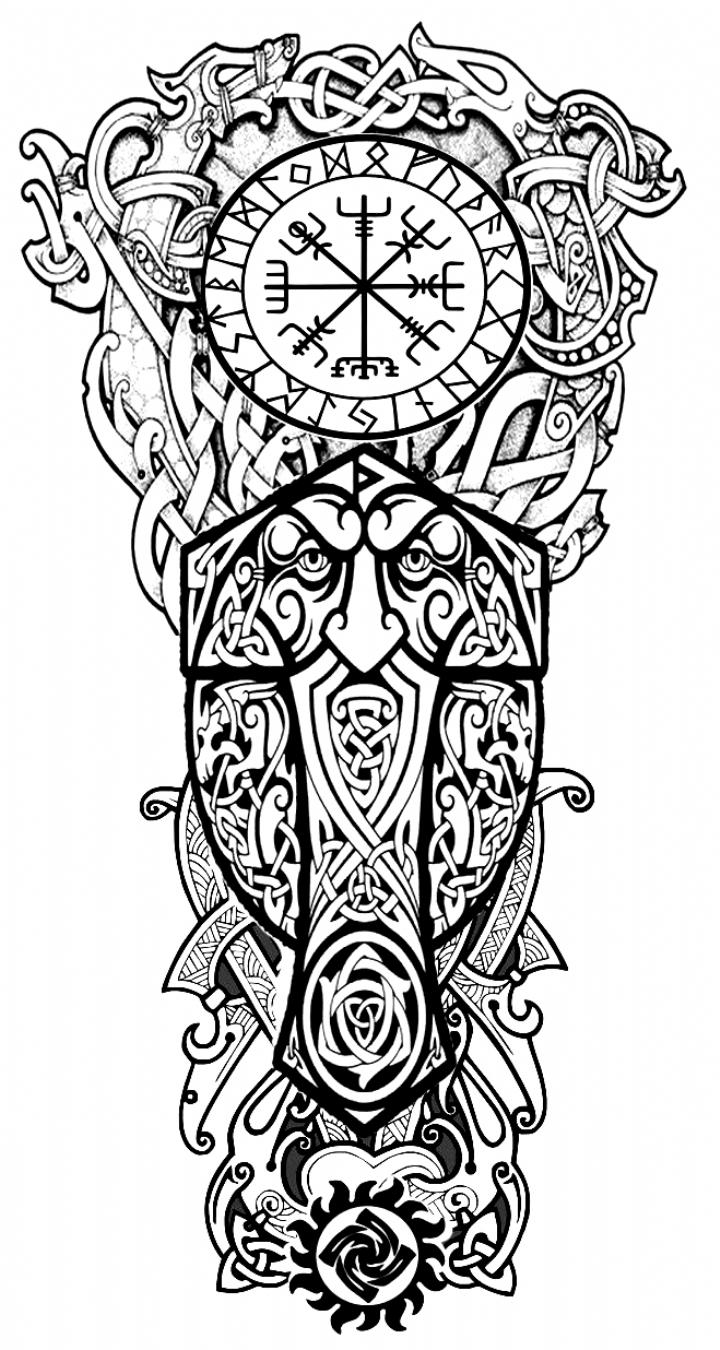Pierna Derecha Superior Norse Tattoo Norse Tattoo Viking Tattoos 3d Tattoos Warrior Tattoos Military Tattoos Shoulder Viking Tattoo Sleeve Viking Tattoo Symbol Norse Tattoo