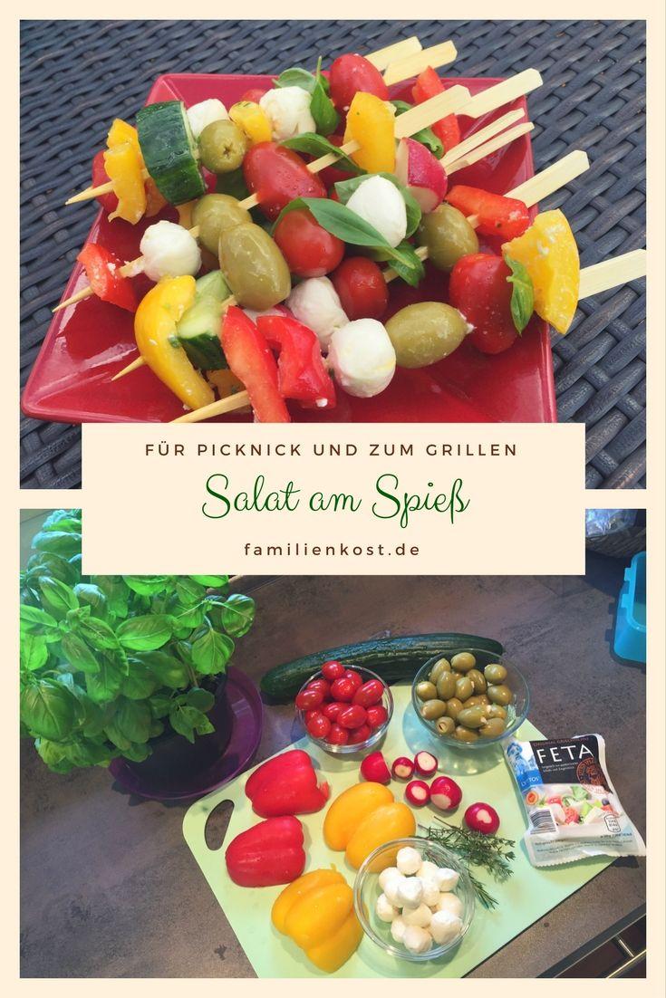 salat am spiess rezept in 2019 familienrezepte pinterest salat fingerfood und grillen. Black Bedroom Furniture Sets. Home Design Ideas
