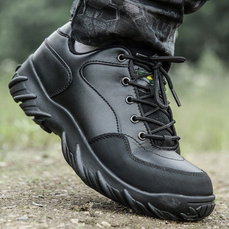 Black Military Climbing Tactical Boots Army Combat Shoes  a98b1a8359c