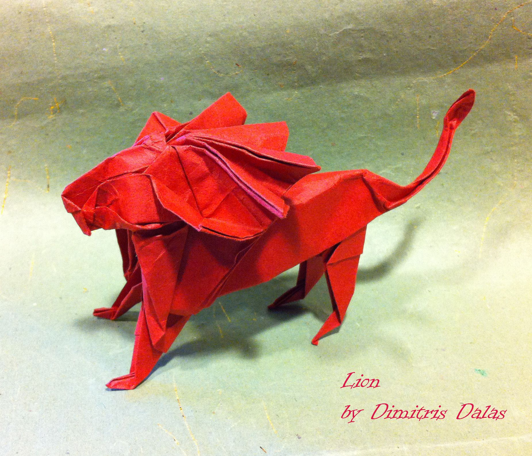 origami lion | origami | Origami, Origami paper art ... - photo#43
