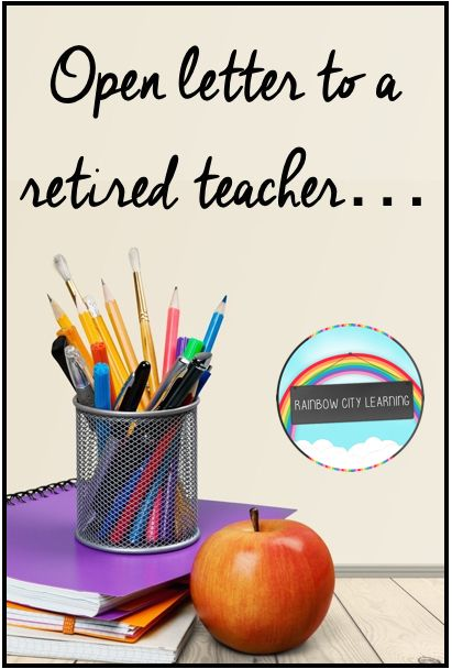 Rcl Open Letter To A Retired Teacher  W Words